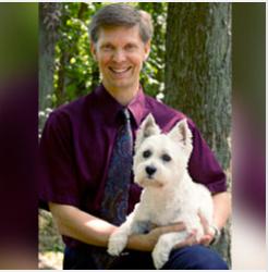 Dr. Leslie Wegele with his pet dog
